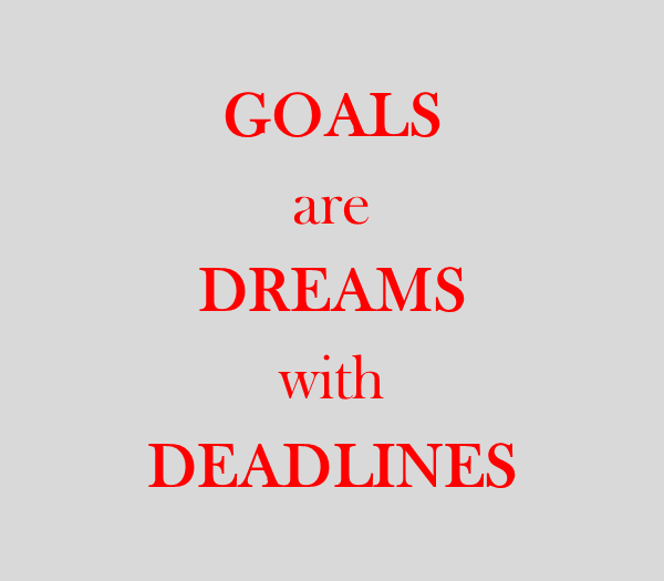 Goals are dreams…