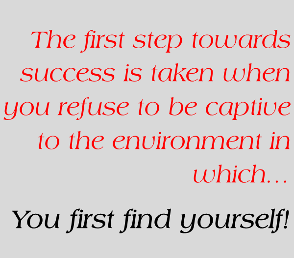 The first step towards…